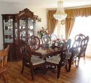 Richi Collection China Cabinet and Dining Room Table