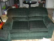 Forest Green Couch and Loveseat for Sale