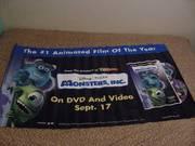 Naugahyde Monster's Inc promo sign circa 2002