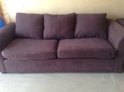 IKEA Brown Couch and Love Seat
