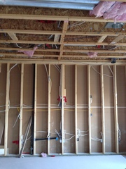 Framing,  Basemnt frost wall framing,   Drop down ceiling;  Residential a