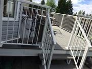 Quality WELDED manufacture exterior aluminium railing supply and insta